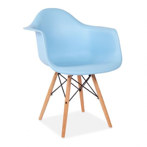 Set of Two Child's Eiffel Style Plastic Arm Chair, Blue